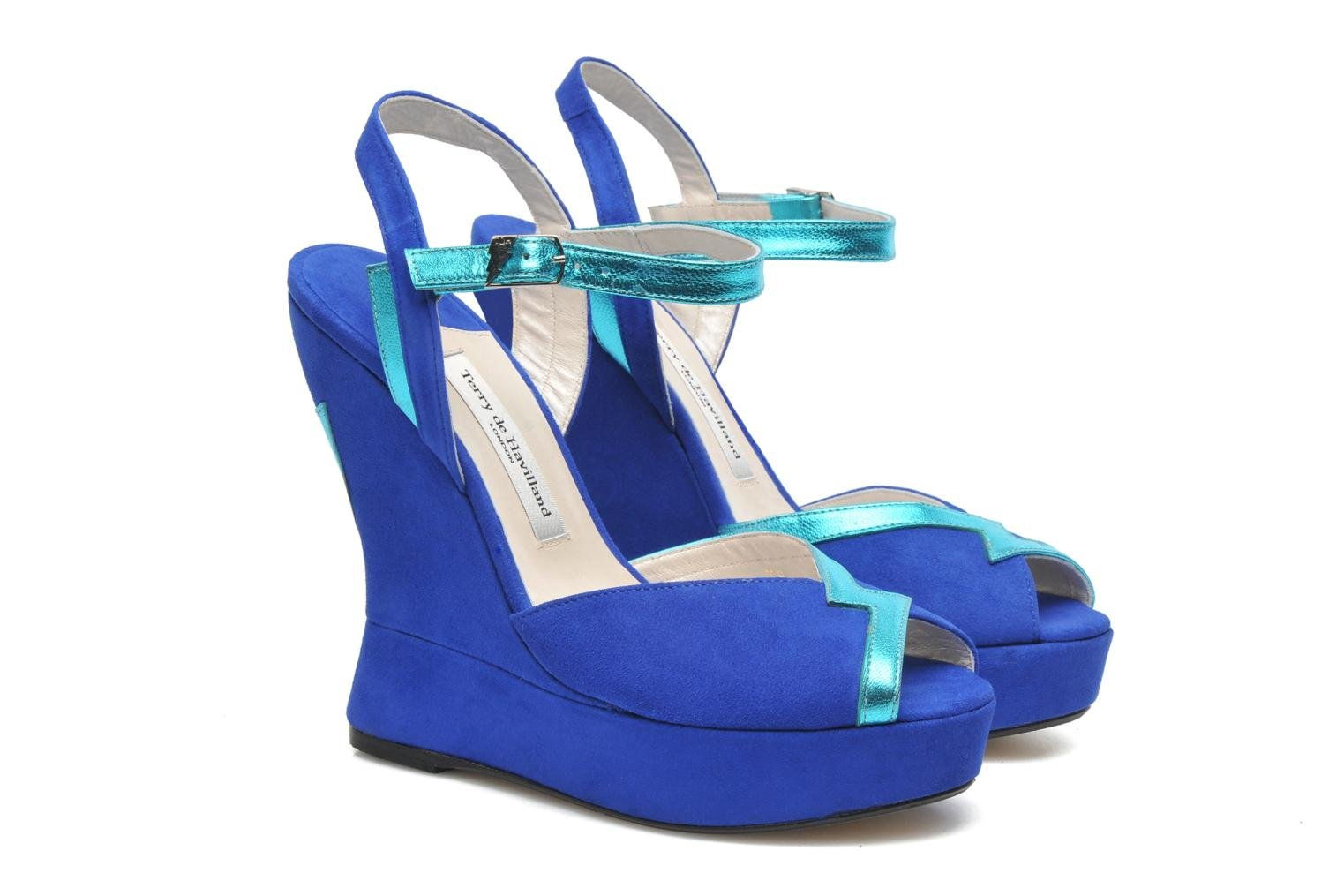 Sandalias Terry de Havilland Izzy Azul vista 3/4