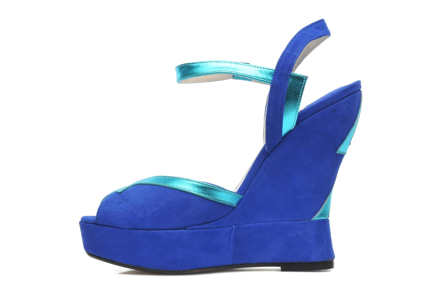 Sandalias Terry de Havilland Izzy Azul vista de frente