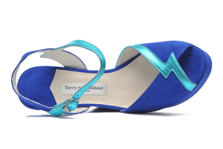 Sandals Terry de Havilland Izzy Blue view from the left