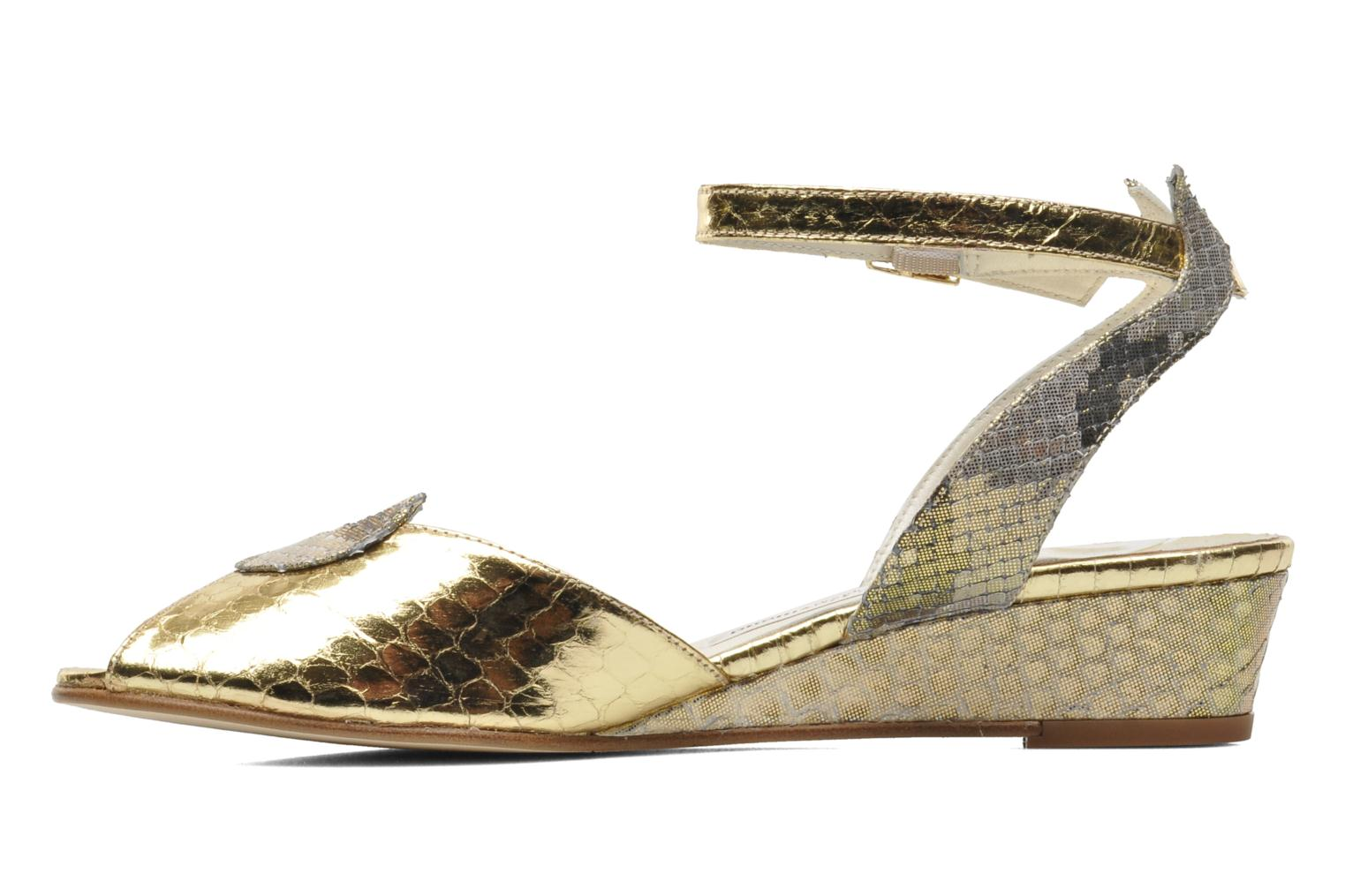 Sandals Terry de Havilland Mini Margaux Bronze and Gold front view