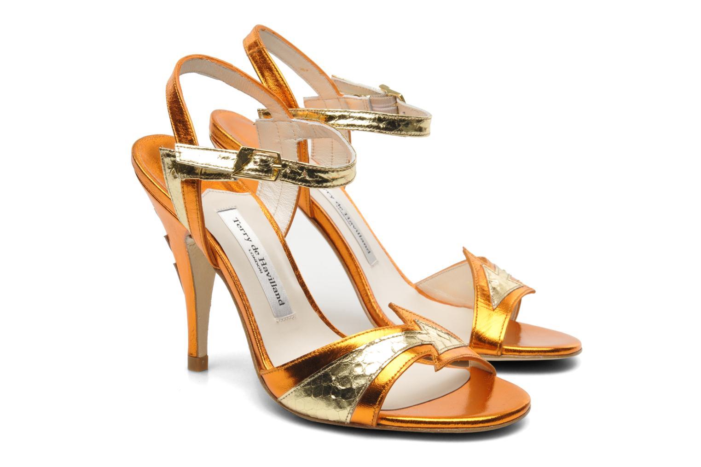 Sandales et nu-pieds Terry de Havilland Ameena Orange vue 3/4