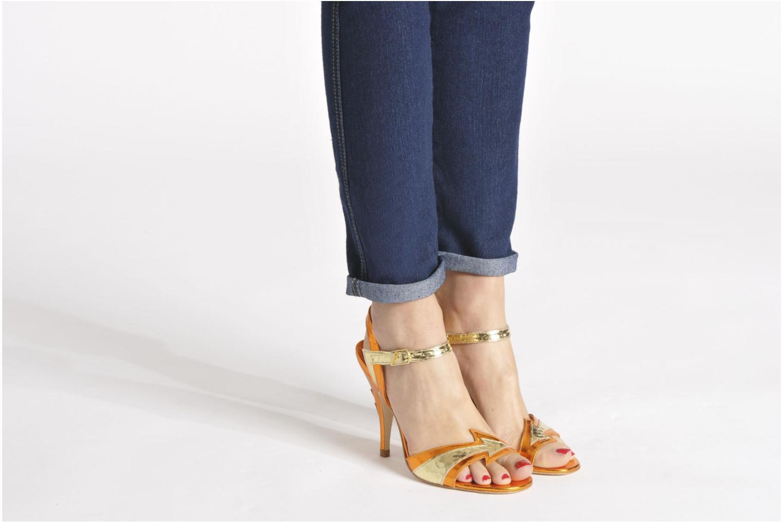 Sandales et nu-pieds Terry de Havilland Ameena Orange vue bas / vue portée sac