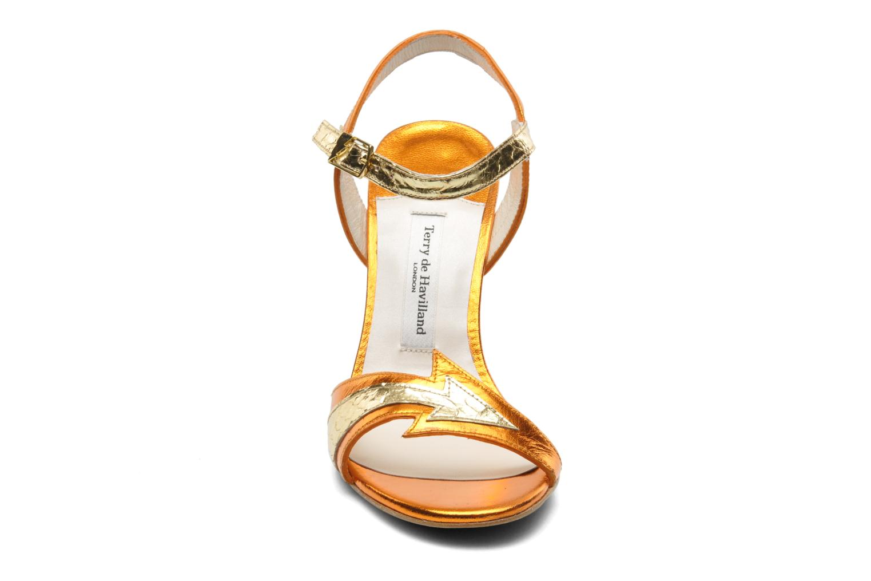 Sandales et nu-pieds Terry de Havilland Ameena Orange vue portées chaussures