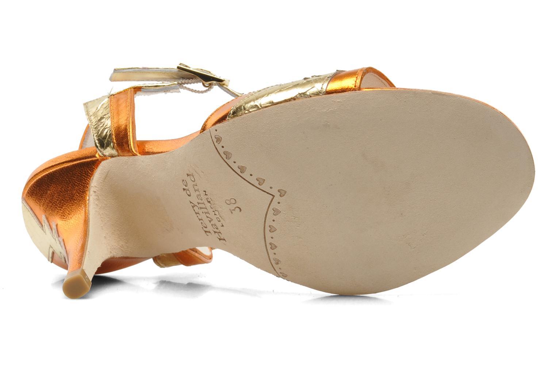 Sandales et nu-pieds Terry de Havilland Ameena Orange vue haut