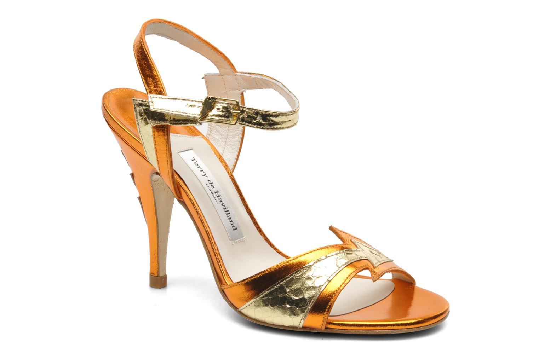 Sandales et nu-pieds Terry de Havilland Ameena Orange vue détail/paire