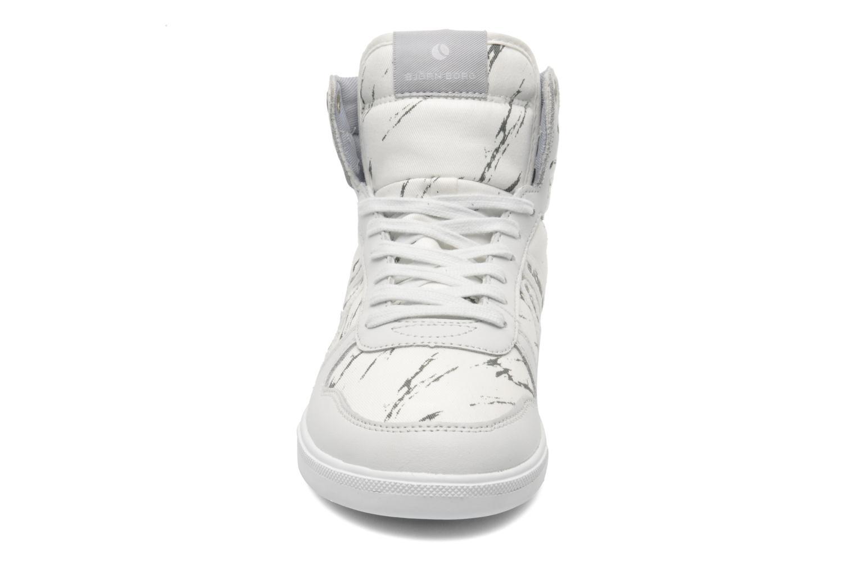 Baskets Björn Borg X100 MID MRB W Blanc vue portées chaussures