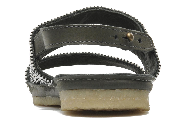 Sandales et nu-pieds Laidback London Gatsby Noir vue droite