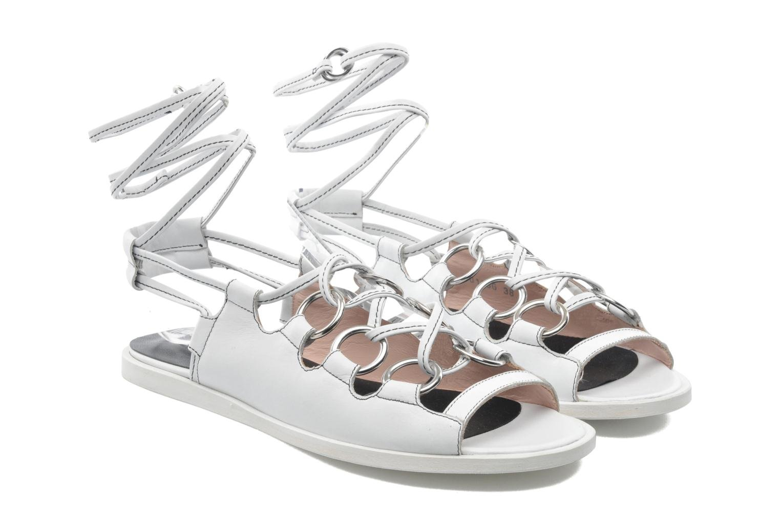 Sandales et nu-pieds Opening Ceremony Kali multi ring lace up Blanc vue 3/4