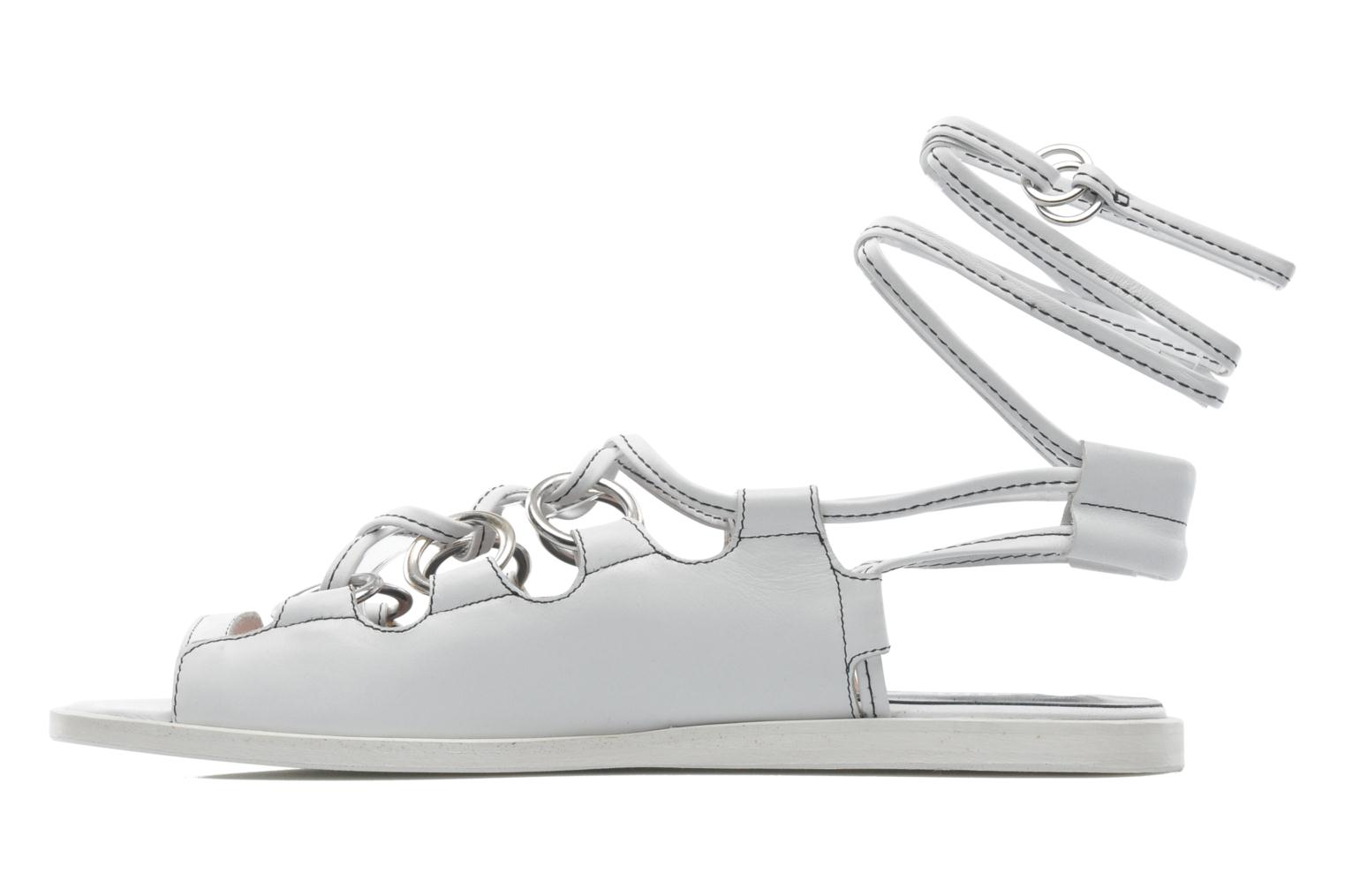 Sandales et nu-pieds Opening Ceremony Kali multi ring lace up Blanc vue face