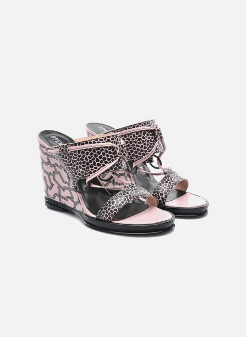 Zuecos Opening Ceremony Mae ankle strap wedge Rosa vista 3/4