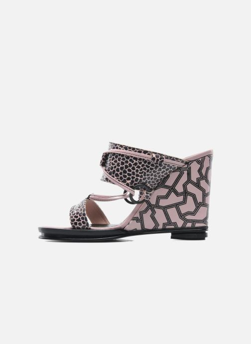 Zuecos Opening Ceremony Mae ankle strap wedge Rosa vista de frente