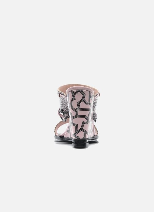Mules et sabots Opening Ceremony Mae ankle strap wedge Rose vue droite