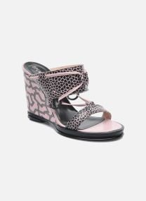 Clogs & Pantoletten Damen Mae ankle strap wedge