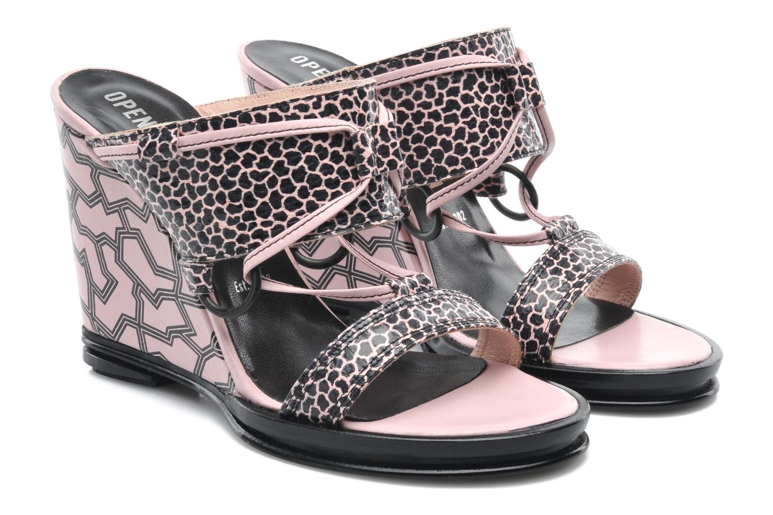 Mules et sabots Opening Ceremony Mae ankle strap wedge Rose vue 3/4