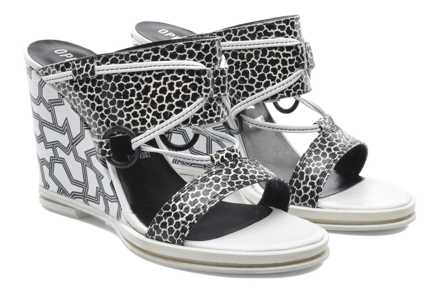 Mules et sabots Opening Ceremony Mae ankle strap wedge Blanc vue 3/4