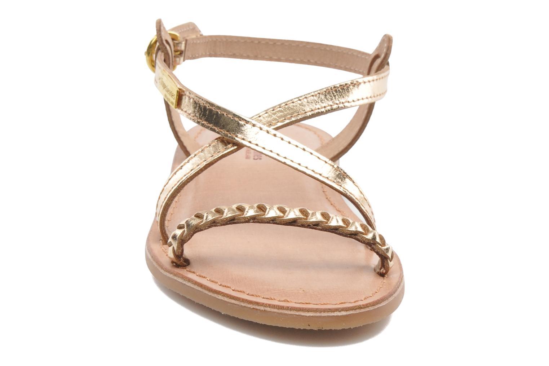 Sandales et nu-pieds Les Tropéziennes par M Belarbi Baladin Or et bronze vue portées chaussures