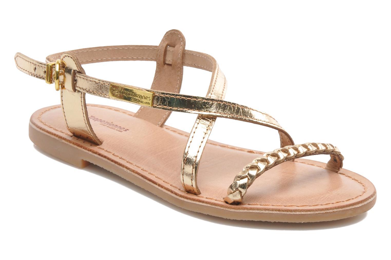 Sandales et nu-pieds Les Tropéziennes par M Belarbi Baladin Or et bronze vue détail/paire