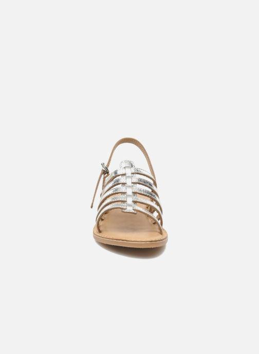 Sandales et nu-pieds Les Tropéziennes par M Belarbi Mangue Argent vue portées chaussures
