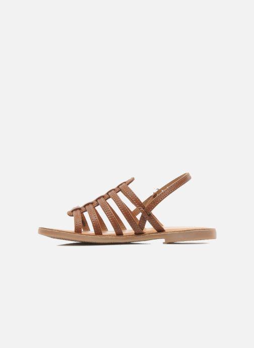 Sandales et nu-pieds Les Tropéziennes par M Belarbi Mangue Marron vue face