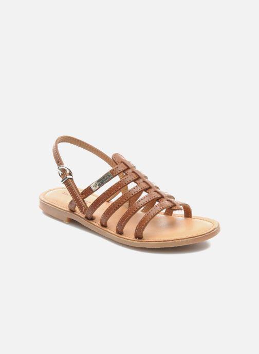 Sandales et nu-pieds Les Tropéziennes par M Belarbi Mangue Marron vue détail/paire