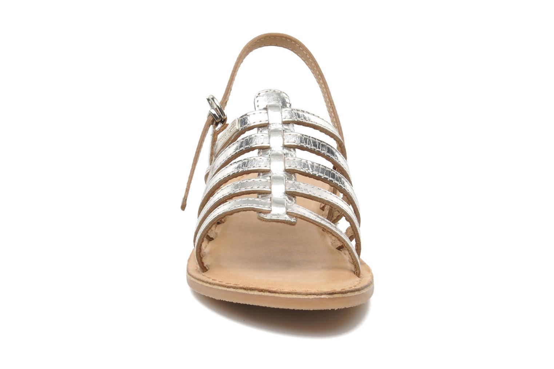 Sandali e scarpe aperte Les Tropéziennes par M Belarbi Mangue Argento modello indossato