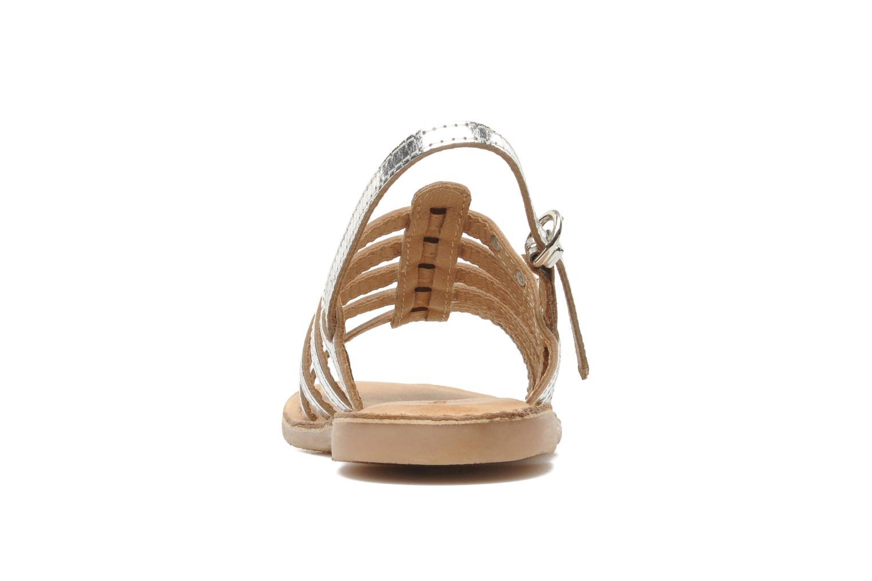 Sandali e scarpe aperte Les Tropéziennes par M Belarbi Mangue Argento immagine destra
