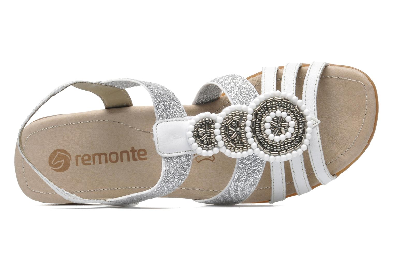 Sandalias Remonte Yolo R5250 Blanco vista lateral izquierda