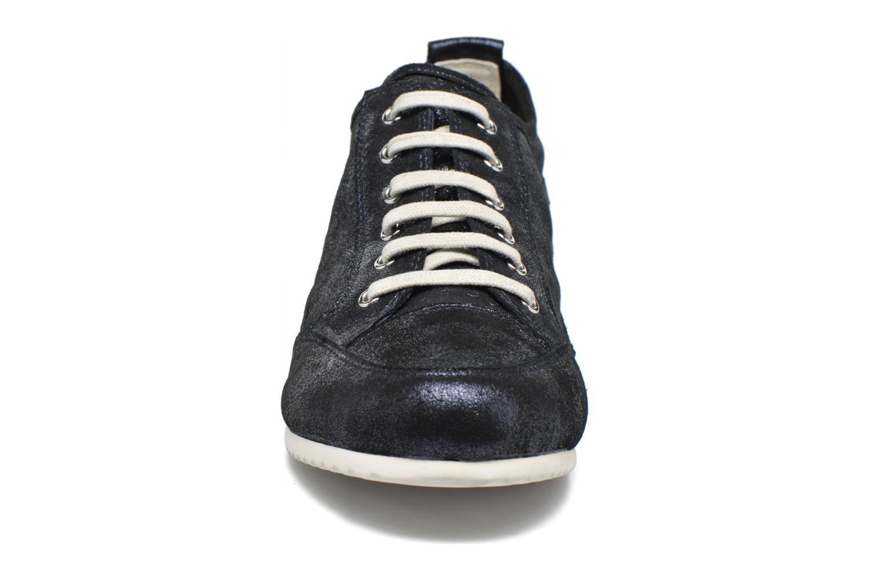 Baskets Karston Cacao Bleu vue portées chaussures