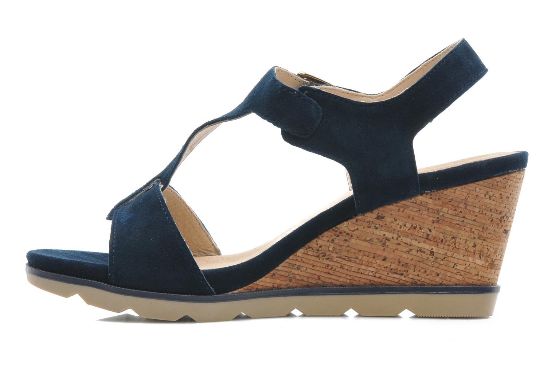Sandales et nu-pieds Lotus Mirror Bleu vue face