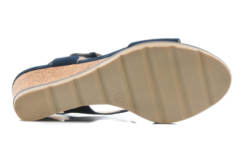 Sandales et nu-pieds Lotus Mirror Bleu vue haut
