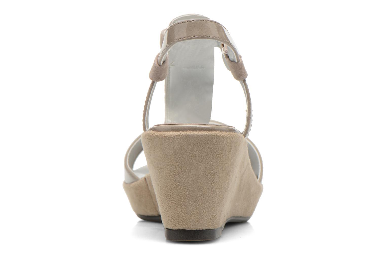 Sandales et nu-pieds Madison Escada Beige vue droite