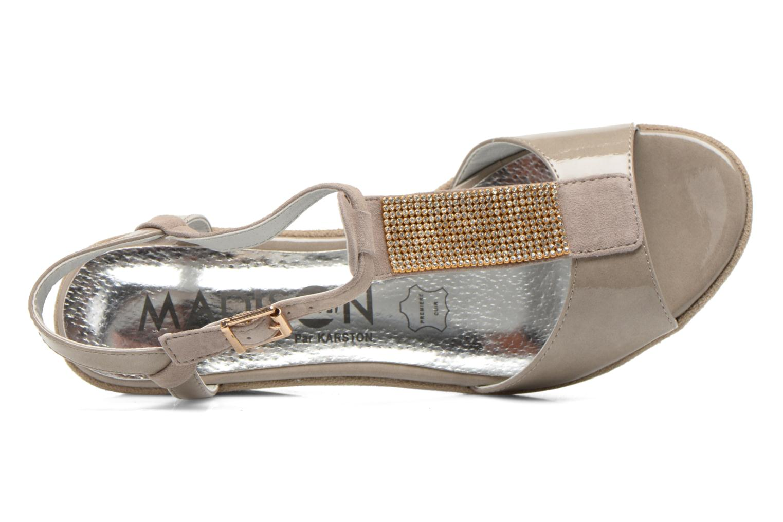 Sandales et nu-pieds Madison Escada Beige vue gauche