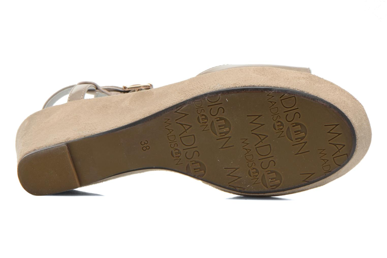 Sandales et nu-pieds Madison Escada Beige vue haut