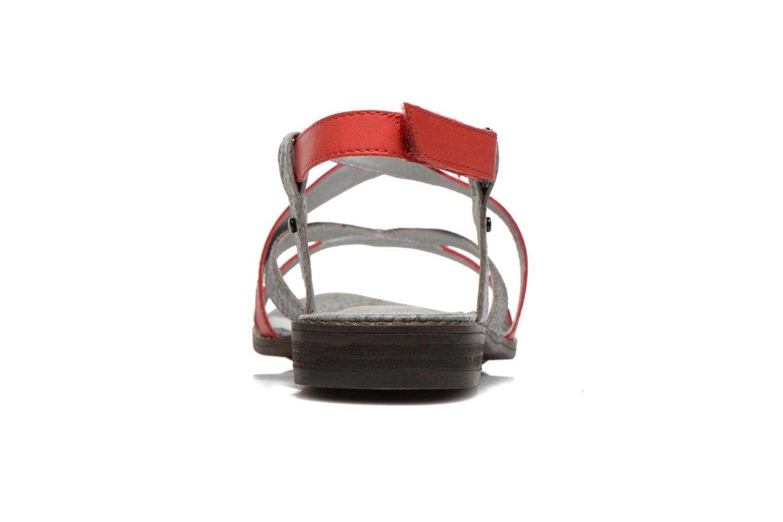 Sandales et nu-pieds Madison Runan Rouge vue droite