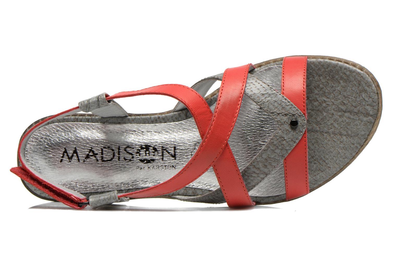 Sandales et nu-pieds Madison Runan Rouge vue gauche
