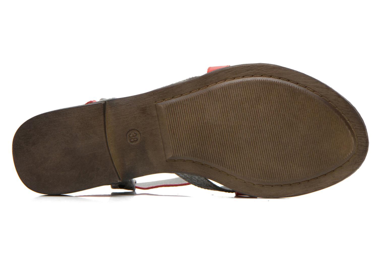 Sandales et nu-pieds Madison Runan Rouge vue haut