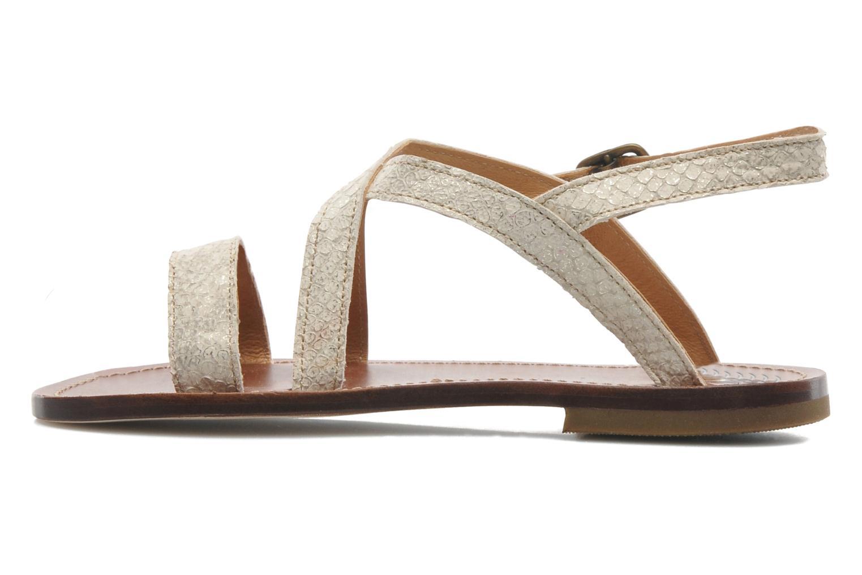 Sandales et nu-pieds PèPè Agati Beige vue face