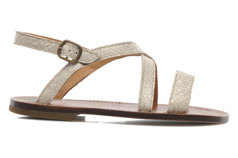 Sandales et nu-pieds PèPè Agati Beige vue derrière