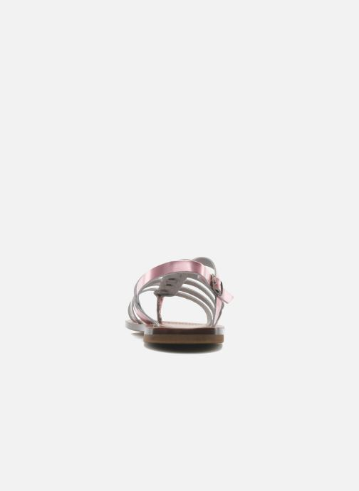 Sandales et nu-pieds PèPè Alteri Rose vue droite