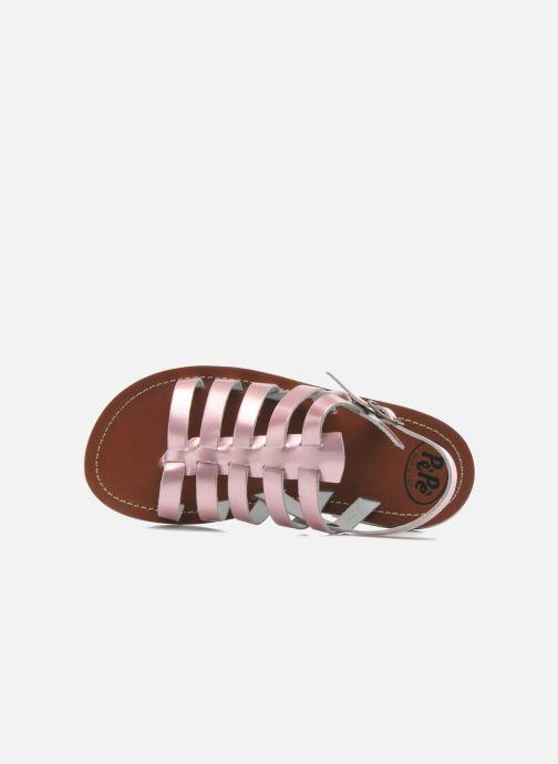 Sandales et nu-pieds PèPè Alteri Rose vue gauche