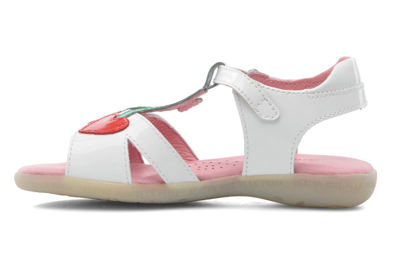 Sandales et nu-pieds Agatha Ruiz de la Prada Cereza Blanc vue face
