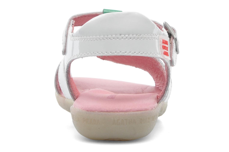Sandales et nu-pieds Agatha Ruiz de la Prada Cereza Blanc vue droite