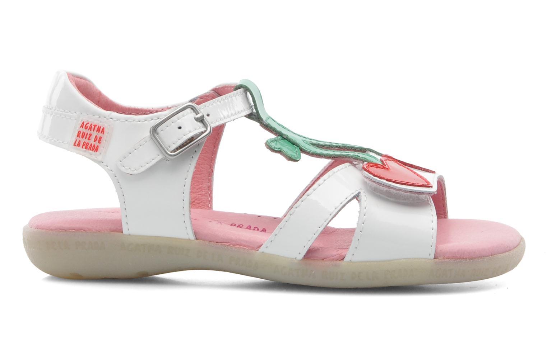 Sandales et nu-pieds Agatha Ruiz de la Prada Cereza Blanc vue derrière