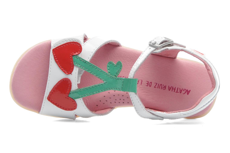 Sandales et nu-pieds Agatha Ruiz de la Prada Cereza Blanc vue gauche