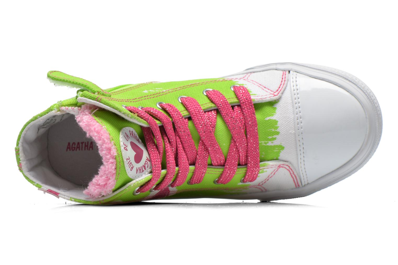 Sneakers Agatha Ruiz de la Prada Delfina Verde immagine sinistra