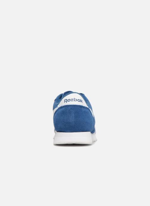 Baskets Reebok Classic Nylon Bleu vue droite