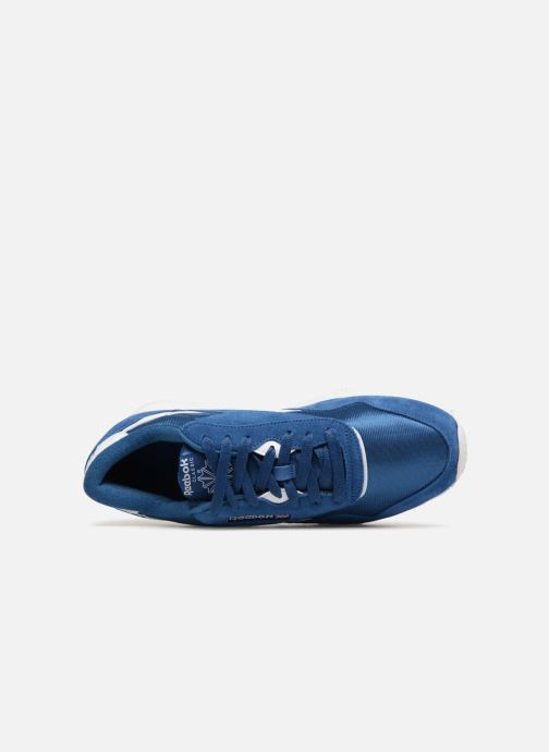 Trainers Reebok Classic Nylon Blue view from the left