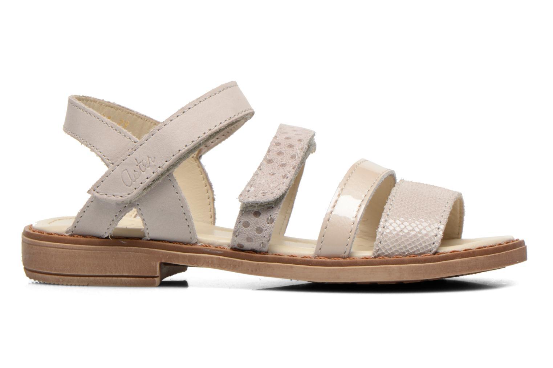 Sandales et nu-pieds Aster TCHAK Gris vue derrière