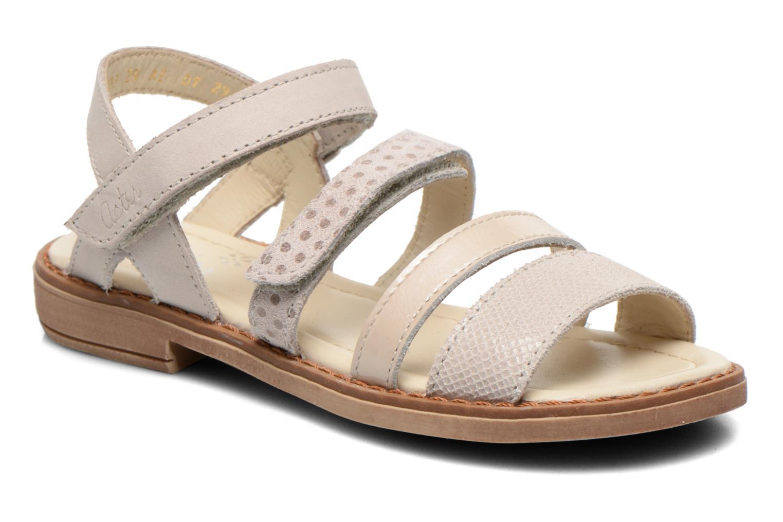 Sandales et nu-pieds Aster TCHAK Gris vue détail/paire