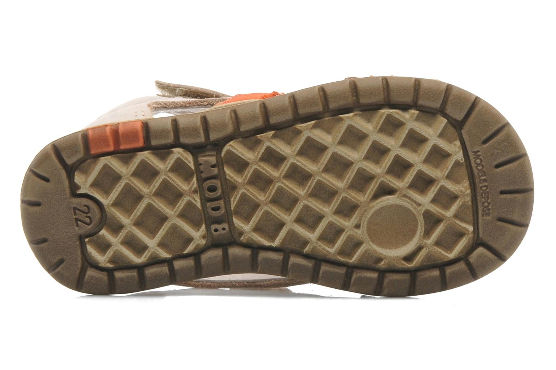 Sandales et nu-pieds Mod8 IDRIS Beige vue haut